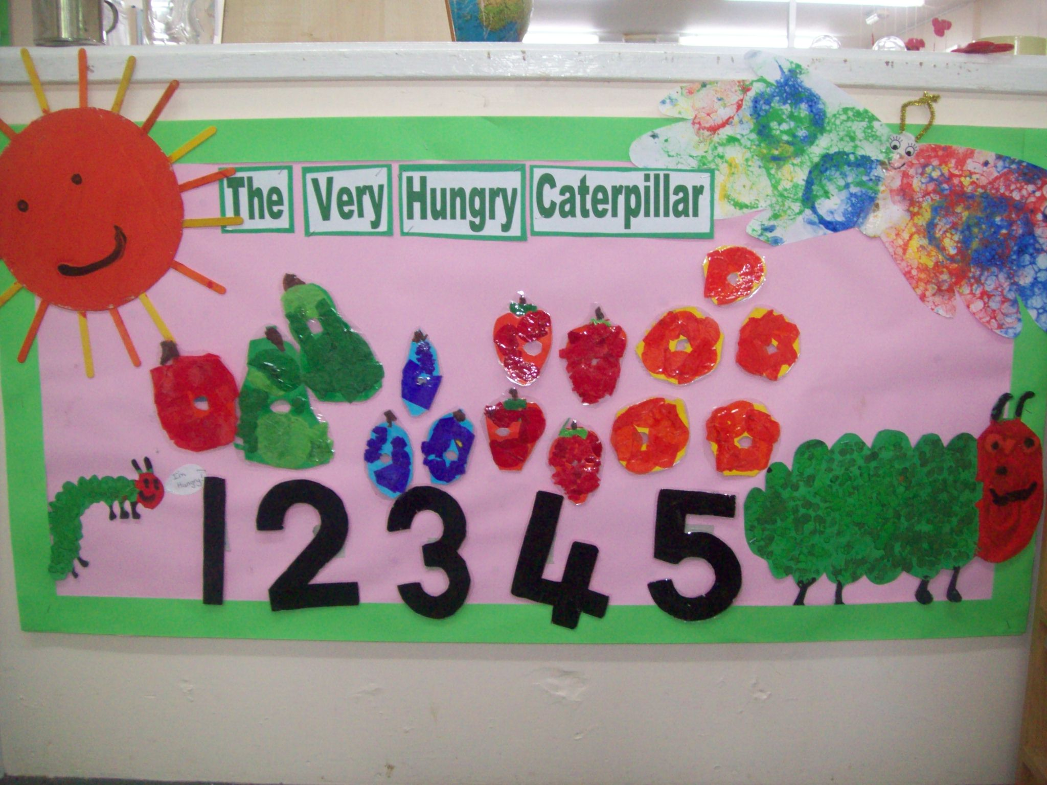 The Hungry Caterpillar display, Calne, May 2016