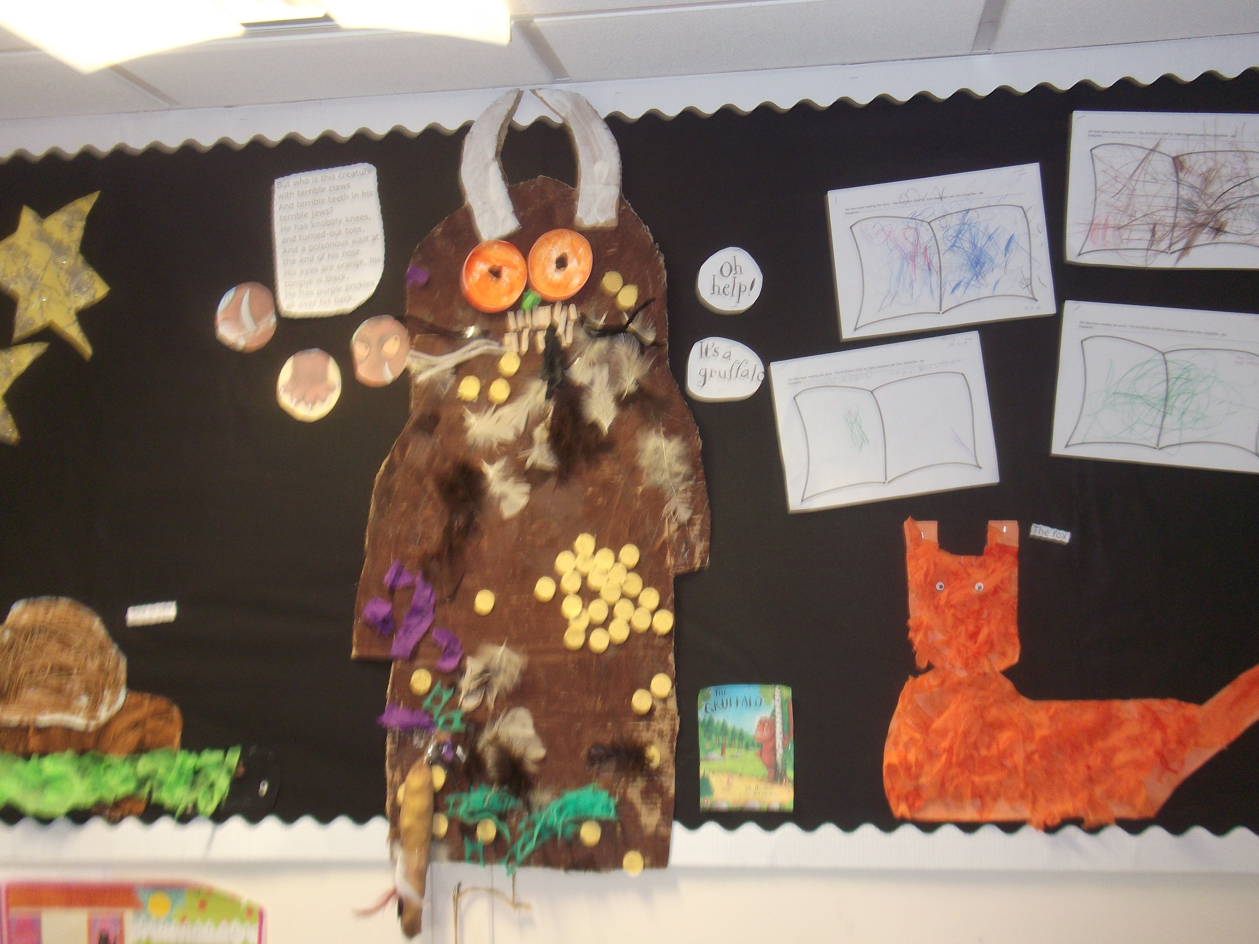 Art trolley inspires Gruffalo display