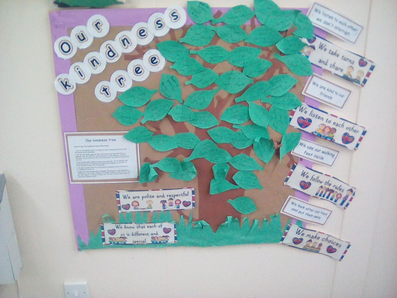 Our Kindness Tree is Sprouting Lots of Leaves!